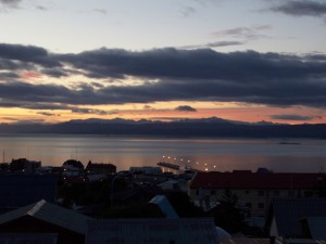 sunrise over the beagle channel