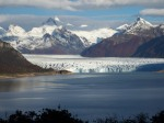 perito moreno from 6kms away