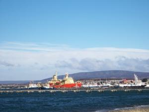... port at punta arenas